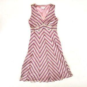 LOFT pattern sleeveless lined dress Size 2